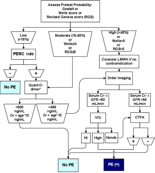 pulmonary embolism rule out algorithm