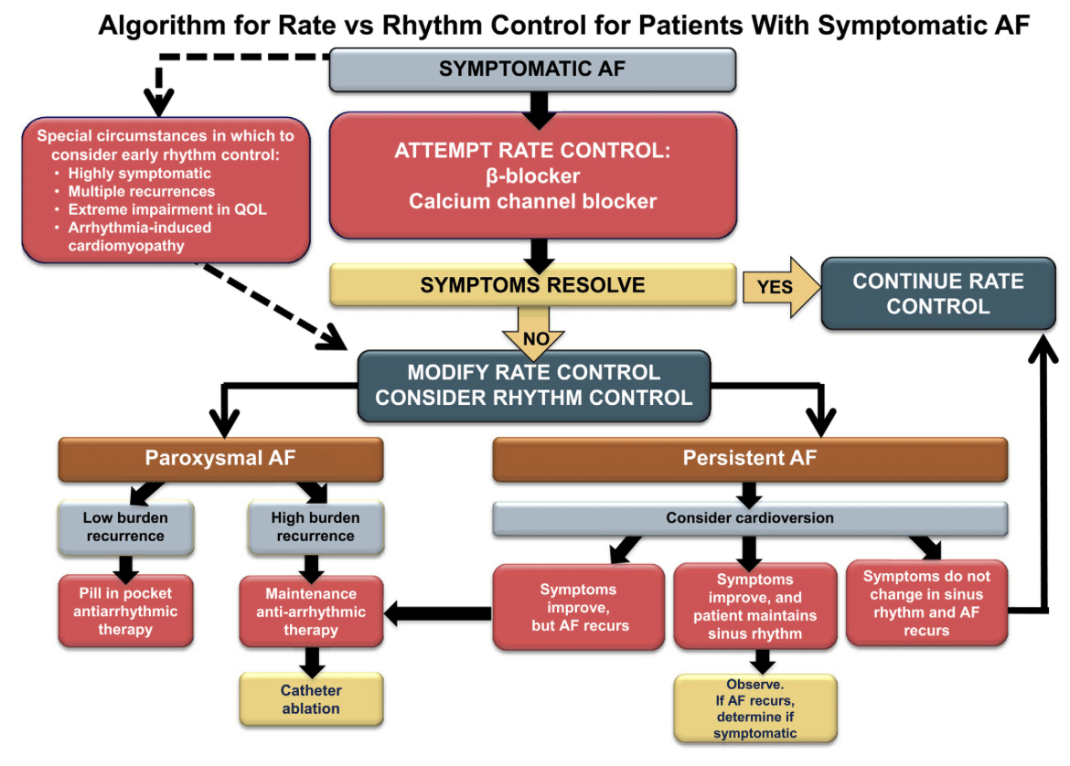 Rate vs Rhythm Control Afib