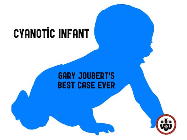 cyanotic infant