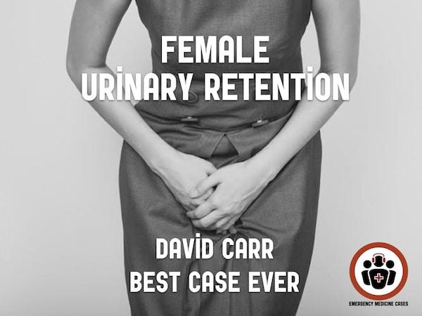 female urinary retention