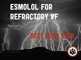 esmolol for refractory ventricular vibrillation