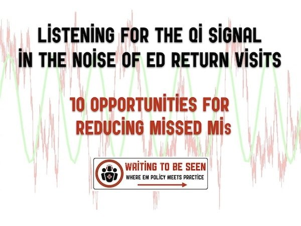 WTBS 16 Listening for the QI Signal in the Noise of ED Return Visits: Focus on Missed MI